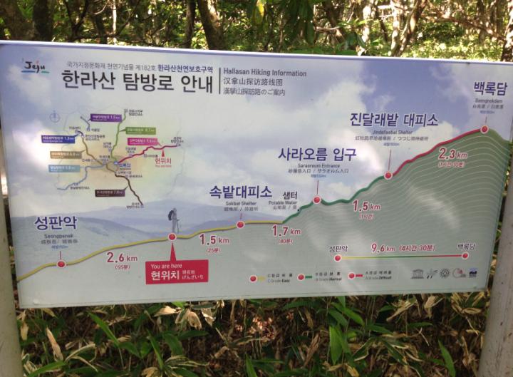 漢拏山(ハルラ山)登山 - トレッキングコース