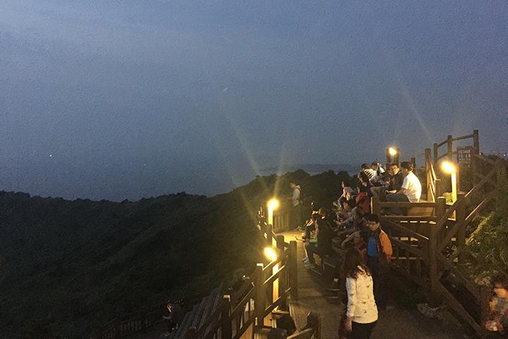 城山日出峰(ソンサンイルチュルボン)の頂上