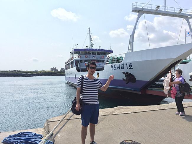 牛島へ向かう船