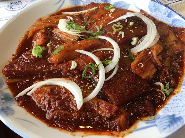 ナムッドリフェチプ(남뚜리횟집)カルチジョリム(太刀魚の辛煮)