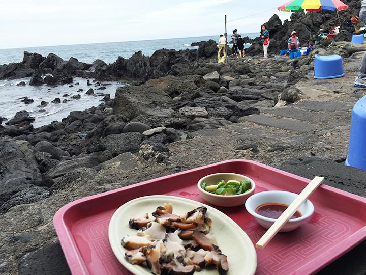 雄大な景色と済州島グルメ