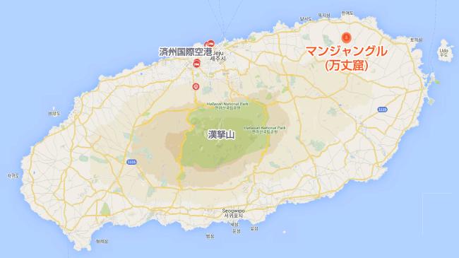 マンジャングル(万丈窟)地図