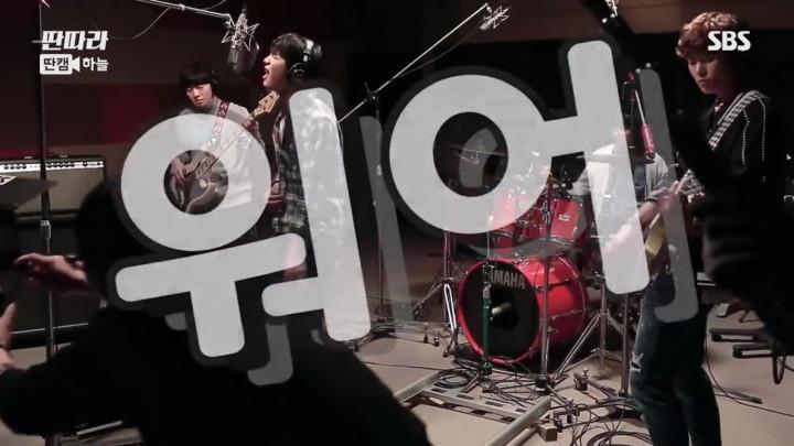 「タンタラバンド」ボーカルのカン・ミンヒョクの録音スタジオでの映像(ハヌル Ver.)