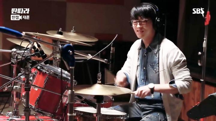 「タンタラバンド」ドラムのエルジョ(TEENTOP)の録音スタジオでの映像(ジェフン Ver.)