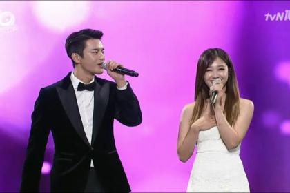 「tvN10 アワード」ソ・イングク&チョン・ウンジのデュエット公演