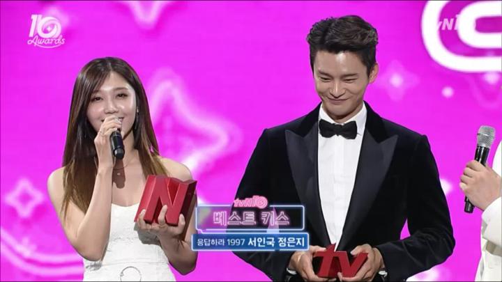 「tvN10 アワード」シムクンキス映像まとめ!ベストキス1位はソ・イングク&チョン・ウンジ