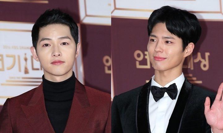 「2016 KBS演技大賞」受賞して涙を流すパク・ボゴムにもらい泣きするソン・ジュンギ感動名場面の映像