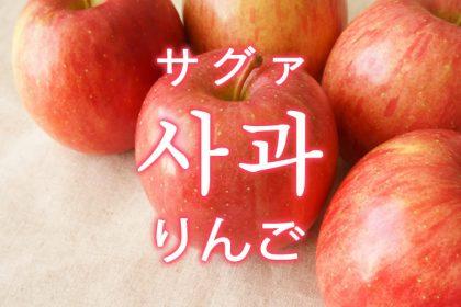 「りんご」を韓国語では?果物のリンゴが好きです