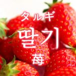 「苺(いちご)」を韓国語では?果物のイチゴが好きです