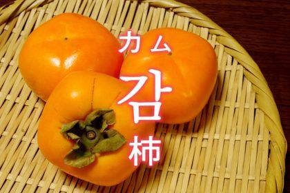 「柿(かき)」を韓国語では?果物の柿が好きです