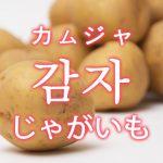 「じゃがいも」を韓国語では?野菜のジャガイモが好きです