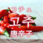 「唐辛子(とうがらし)」を韓国語では?野菜のトウガラシが好きです