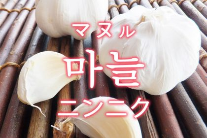 「ニンニク」を韓国語では?野菜のにんにくが好きです