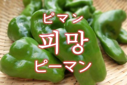 「ピーマン」を韓国語では?野菜のピーマンが好きです