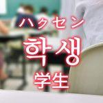 「学生(がくせい)」を韓国語では?さまざまな学生の単語一覧