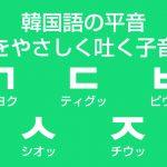 韓国語の平音 – 息をやさしく吐く子音字の発音を学ぼう!