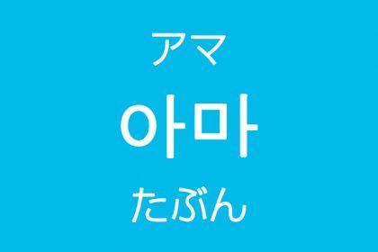 「たぶん・おそらく」を韓国語では?「아마(アマ)」よく使う副詞