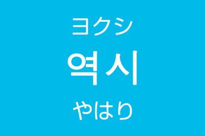「やはり・やっぱり」を韓国語では?「역시(ヨクシ)」よく使う副詞