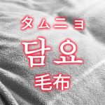 「毛布(もうふ)」を韓国語では?「담요(タムニョ)」の意味