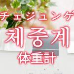 「体重計」を韓国語では?「체중계(チェジュンゲ)」の意味