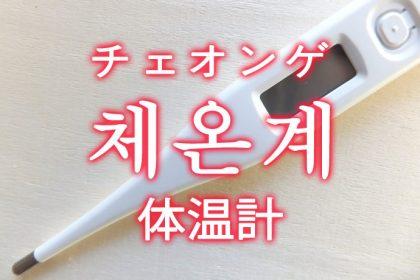 「体温計」を韓国語では?「체온계(チェオンゲ)」の意味