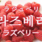 「ラズベリー」を韓国語では?「라즈베리(ラジュベリ)」の意味