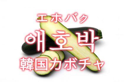「韓国カボチャ(エホバク)」を韓国語では?「애호박(エホバク)」の意味
