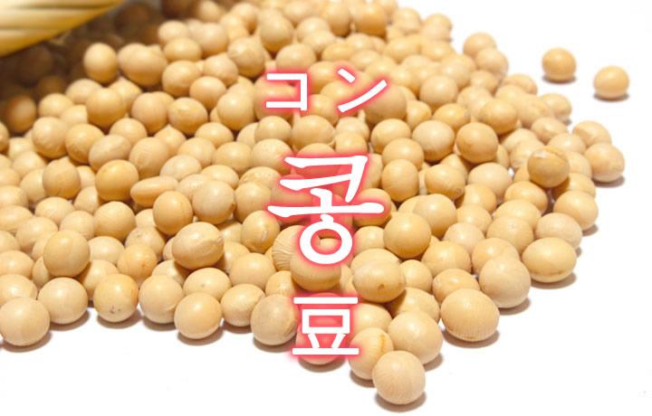 「豆(まめ)・大豆(だいず)」を韓国語では?「콩(コン)」の意味