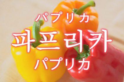 「パプリカ」を韓国語では?「파프리카(パプリカ)」の意味