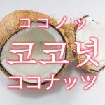 「ココナッツ」を韓国語では?「코코넛(ココノッ)」の意味