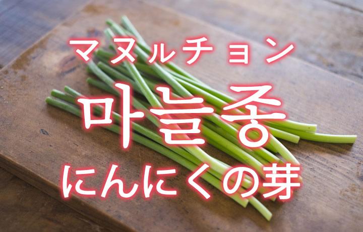「にんにくの芽」を韓国語では?「마늘종(マヌルチョン)」の意味