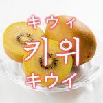 「キウイ」を韓国語では?「키위(キウィ)」の意味