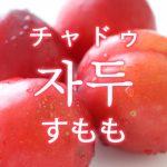 「すもも」を韓国語では?「자두(チャドゥ)」の意味