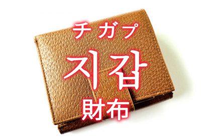 「財布(さいふ)」を韓国語では?「지갑(チガプ)」の意味