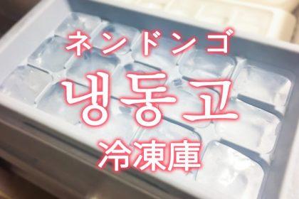 「冷凍庫(れいとうこ)」を韓国語では?「냉동고(ネンドンゴ)」の意味