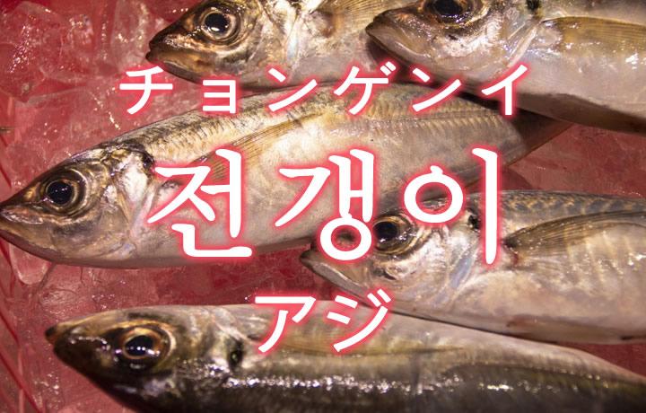 「アジ(鯵)」を韓国語では?「전갱이(チョンゲンイ)」の意味