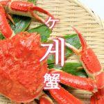 「蟹(かに)」を韓国語では?「게(ケ)」の意味