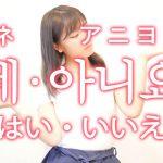 「はい・いいえ」を韓国語では?「네(ネ)・아니요(アニヨ)」の意味