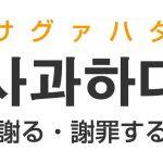 「謝る・謝罪する」を韓国語では?「사과하다(サグァハダ)」の意味・使い方