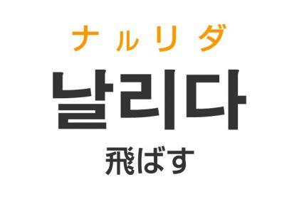 「飛ばす(とばす)」を韓国語では?「날리다(ナルリダ)」の意味・使い方
