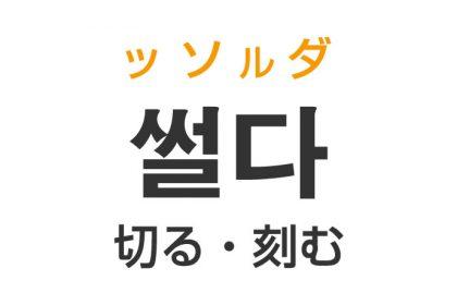 「切る・刻む」を韓国語では?「썰다(ッソルダ)」の意味・使い方