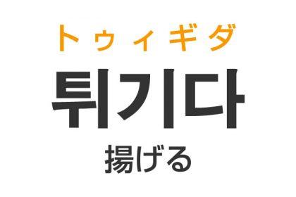 「揚げる(あげる)」を韓国語では?「튀기다(トゥィギダ)」の意味・使い方
