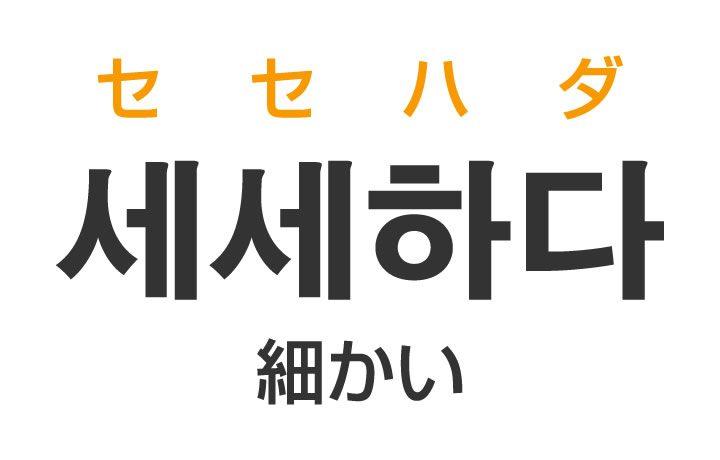 「細かい(こまかい)」を韓国語では?「세세하다(セセハダ)」の意味・使い方