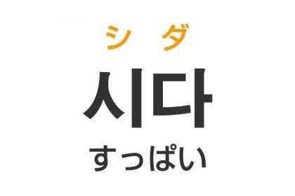 「すっぱい(酸っぱい)」を韓国語では?「시다(シダ)」の意味・使い方