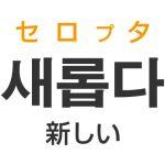 「新しい(あたらしい)」を韓国語では?「새롭다(セロプタ)」の意味・使い方